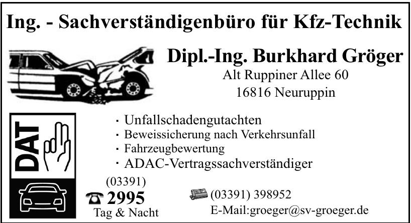 Dipl.-Ing. Burkhard Gröger