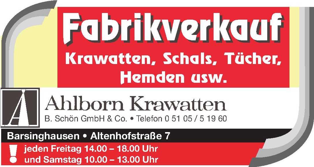 Ahlborn Krawatten B. Schön GmbH & Co.