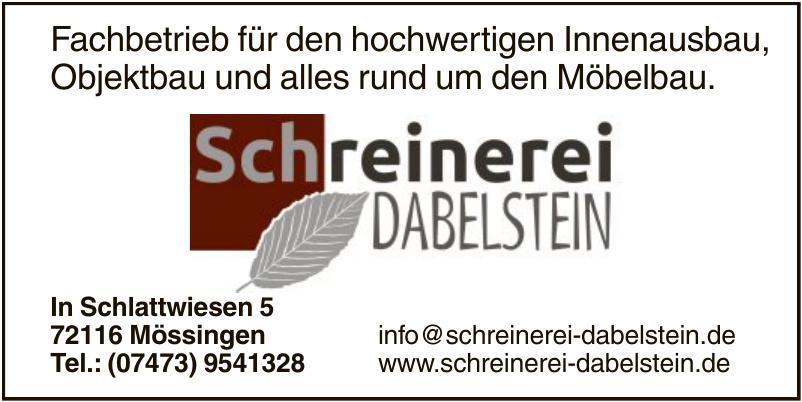 Schreinerei Dabelstein
