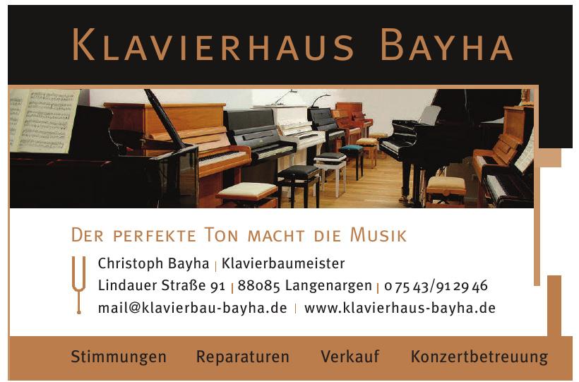 Christoph Bayha Klavierbaumeister