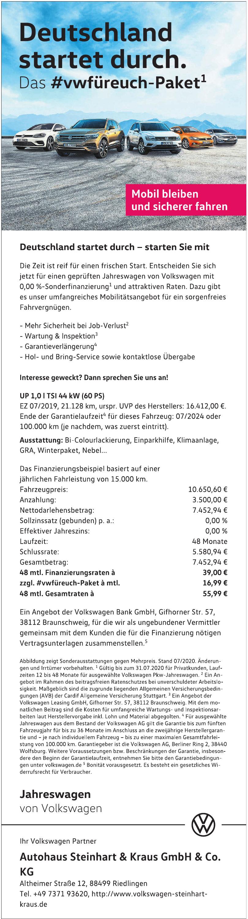 Autohaus Steinhart & Kraus GmbH & Co. KG