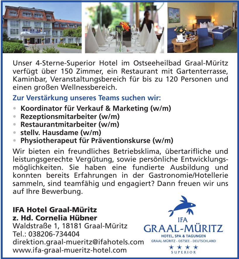 IFA Hotel Graal-Müritz z. Hd. Cornelia Hübner