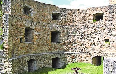 Später Zusatz: Kanonenbastion des 17. Jahrhunderts. Foto: hap