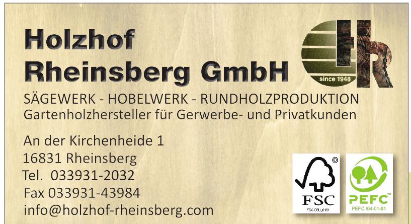 Holzhof Rheinsberg GmbH