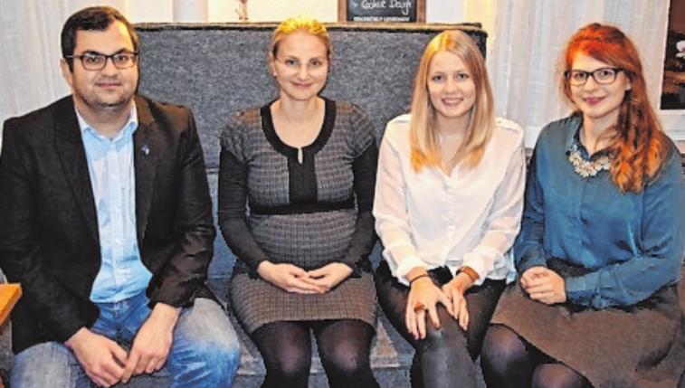 Der Vorstand 2019 (v.l.): Steffen Zink, Barbara Gutmann, Eva Kirchner und Bernadette KöthFOTOS: WIRTSCHAFTSJUNIOREN