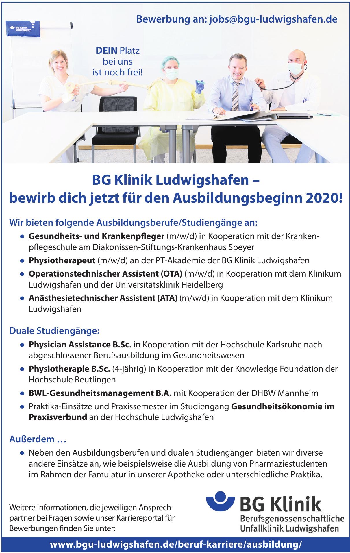 BG Klinik Berufsgenossenschafliche Unfalklinik Ludwigshafen