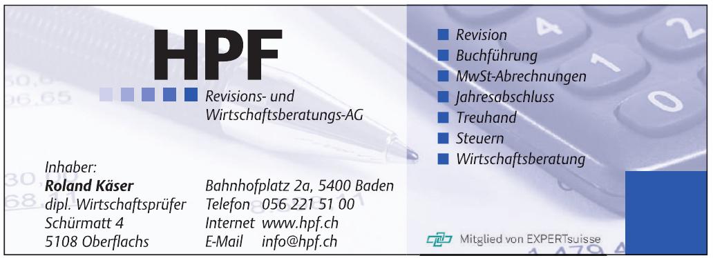 HPF Revisions- und Wirtschaftsberatungs-AG