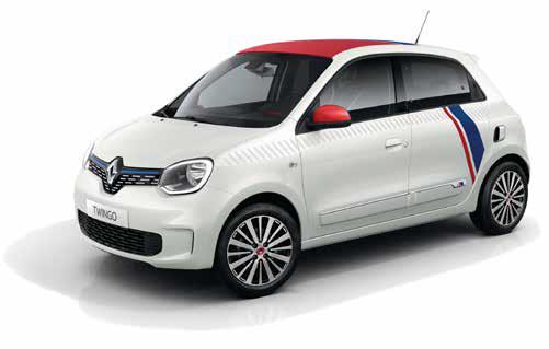 Renault Twingo: Gesamtverbrauch kombiniert (l/100 km): 5,1-4,4; CO2-Emissionen kombiniert (g/km): 116-100. Energieeffizienzklasse: C-B. (Werte nach Messverfahren VO [EG] 715/2007).
