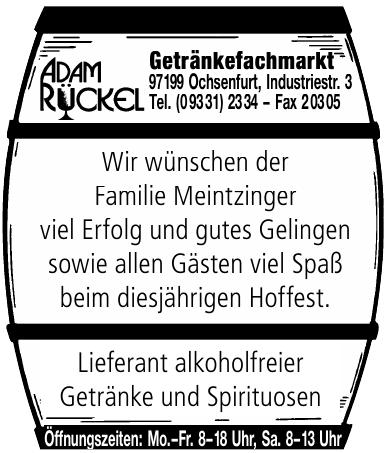 Adam Rückel Getränkefachmarkt