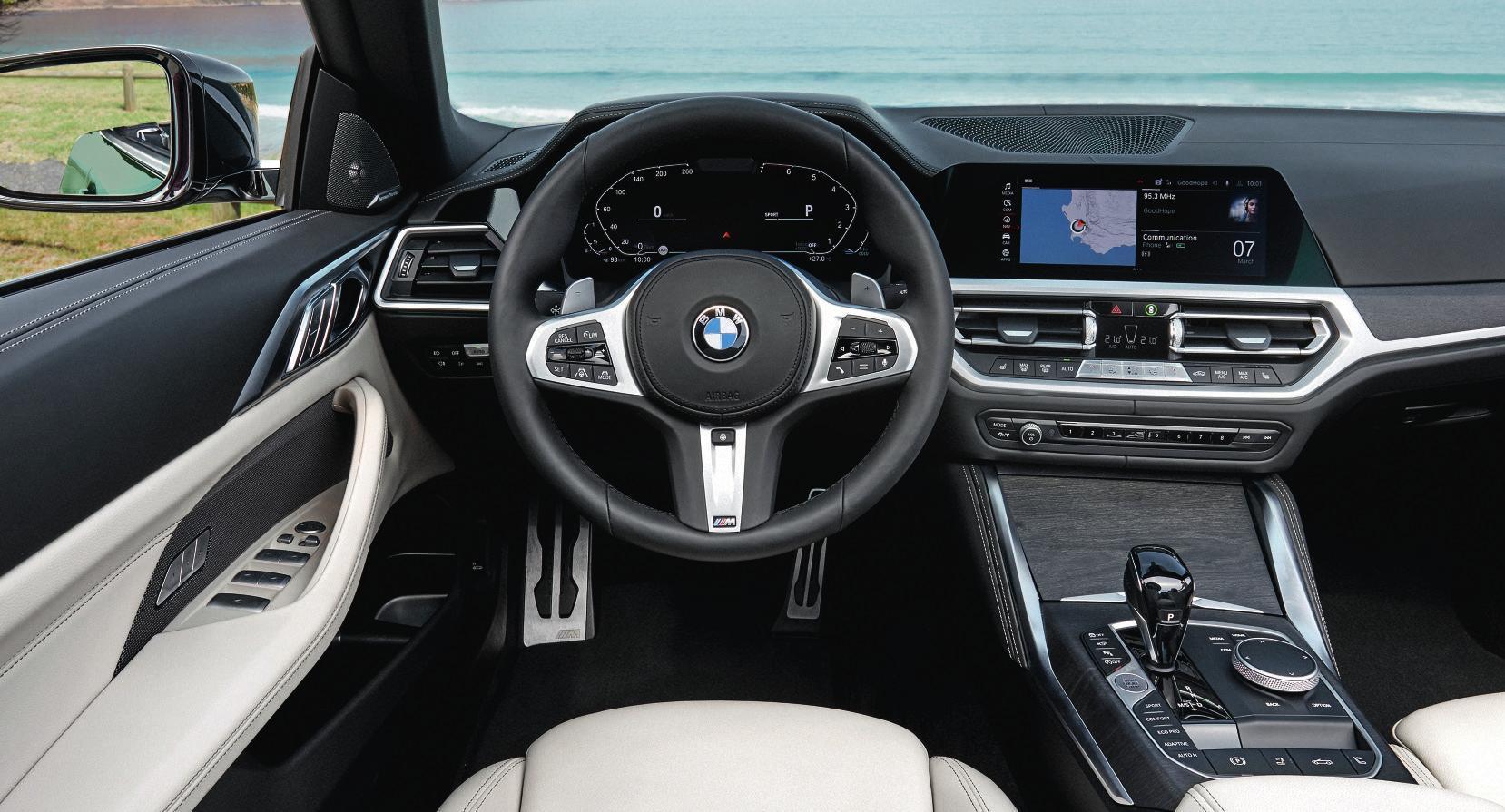 Das Cockpit im 4er Cabrio spielt alle Stückerl. Fotos: BMW