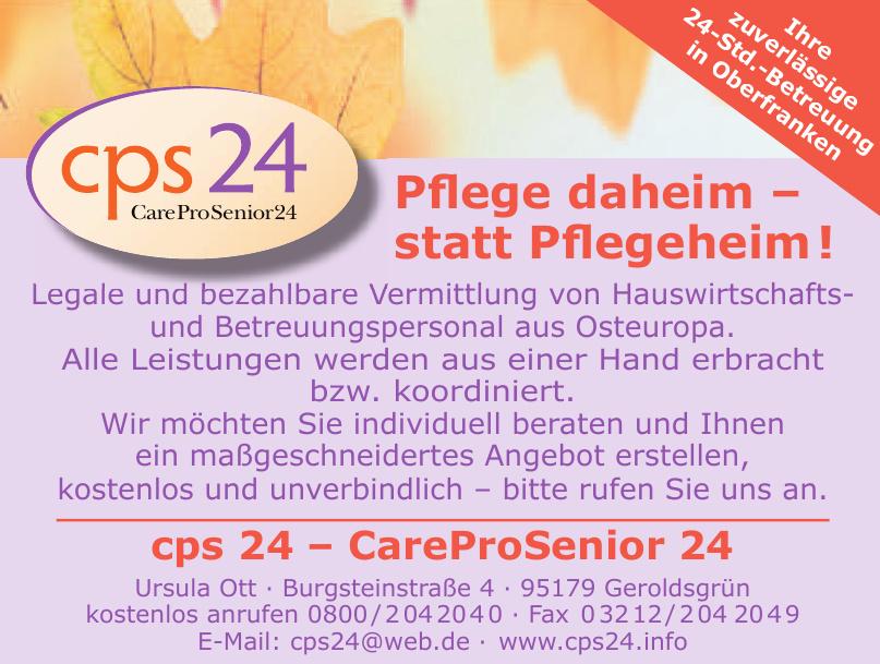CPS 24 - CareProSenior24