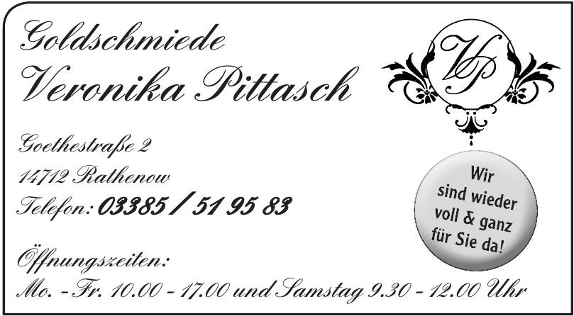 Goldschmiede Veronika Pittasch
