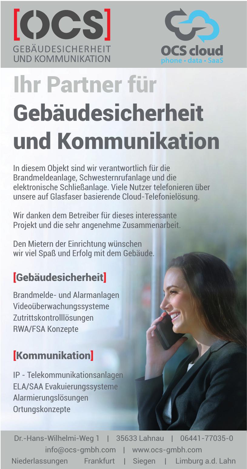 OCS Gebäudesicherheit und Kommunikation