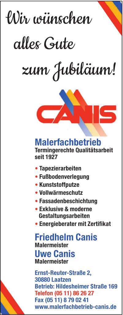 Friedhelm Canis GmbH Malermeister