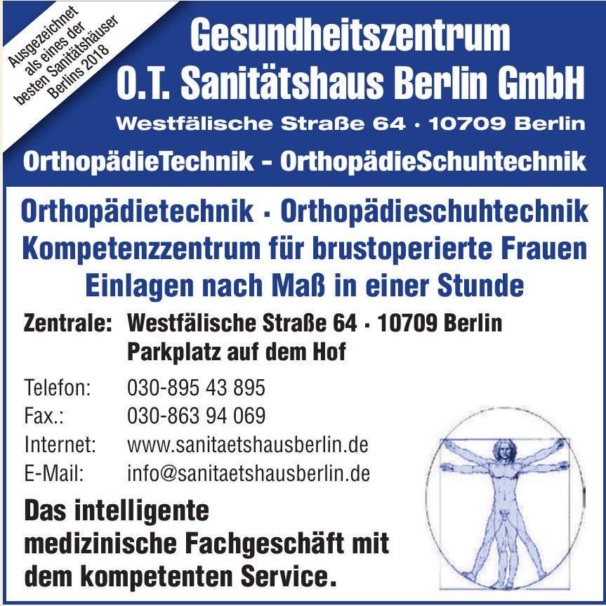 Gesundheitszentrum O.T. Sanitätshaus Berlin GmbH