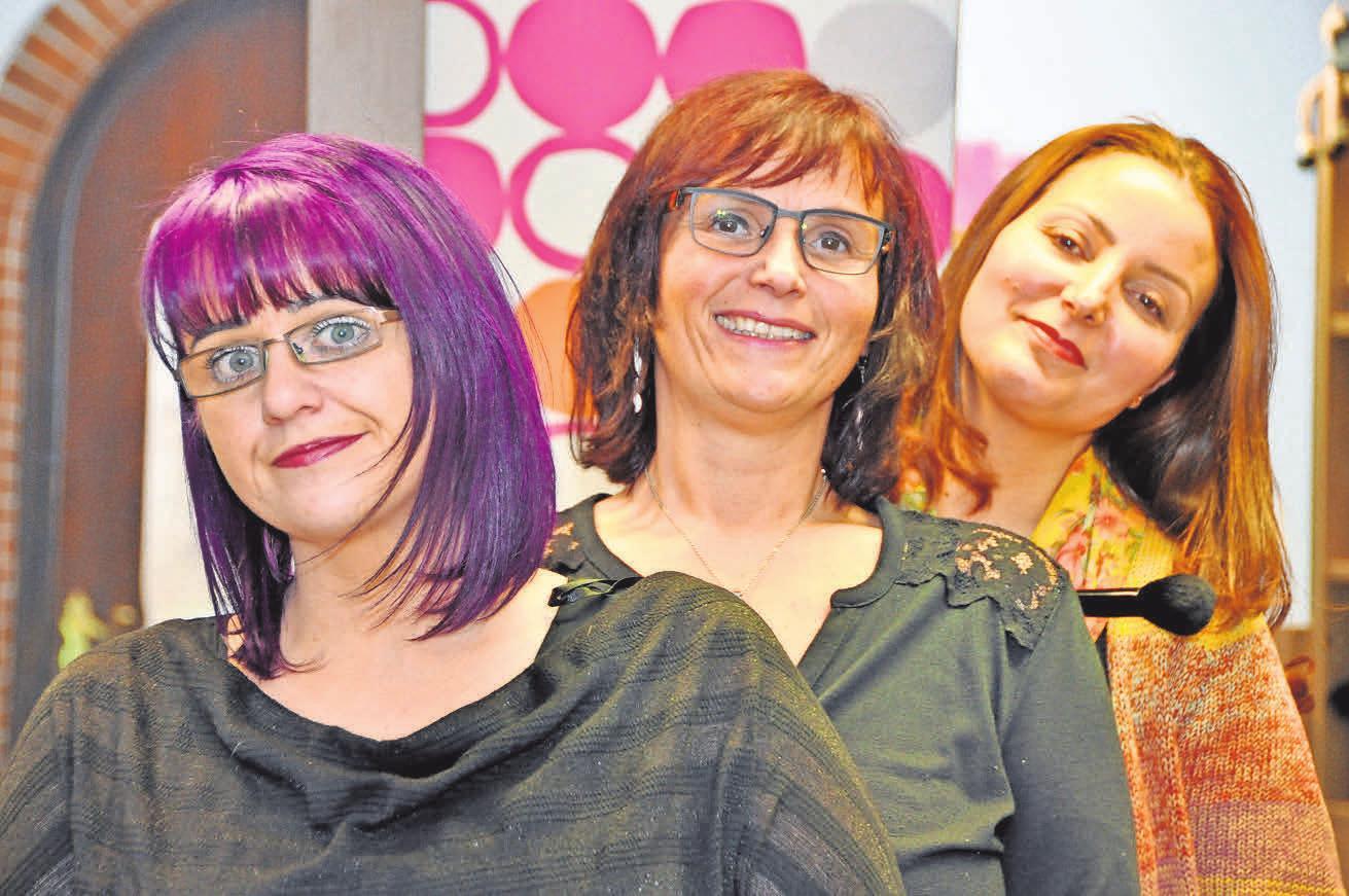 Ein perfektes Team: Jasmin Preuschhoff (von links), Nicole Beier und Leila Ghrair. Foto: Archiv