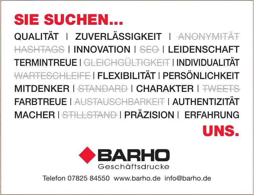 Barho Geschäftsdrucke