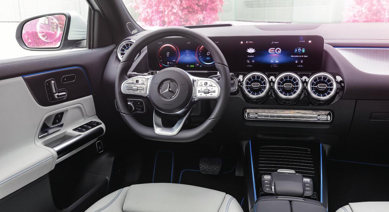 Hochmodernes und innovatives Cockpit. Fotos: Mercedes-Benz