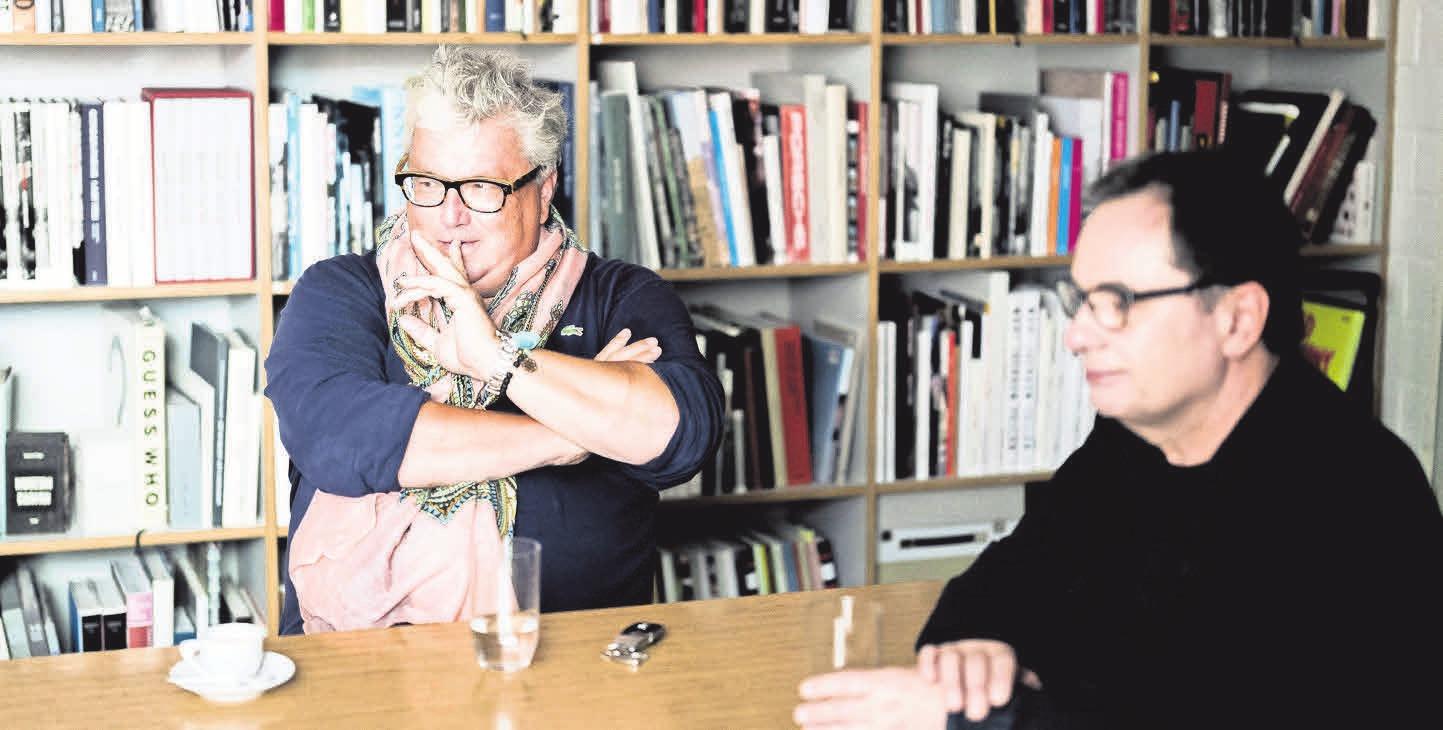 Hans Georg Näder und Verleger Gerhard Steidl. FOTO: CHRISTOPH NEUMANN