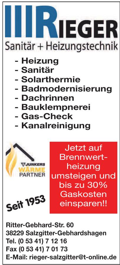 Rieger Sanitär + Heizungstechnik