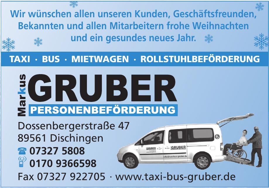 Markus Gruber Personenbeförderung