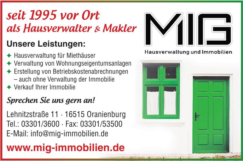 MIG Hausverwaltung und Immobilien