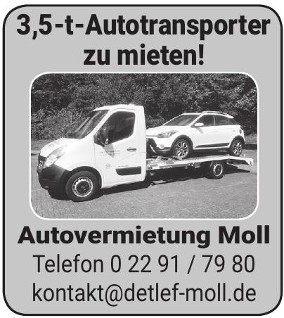 Autovermietung Moll