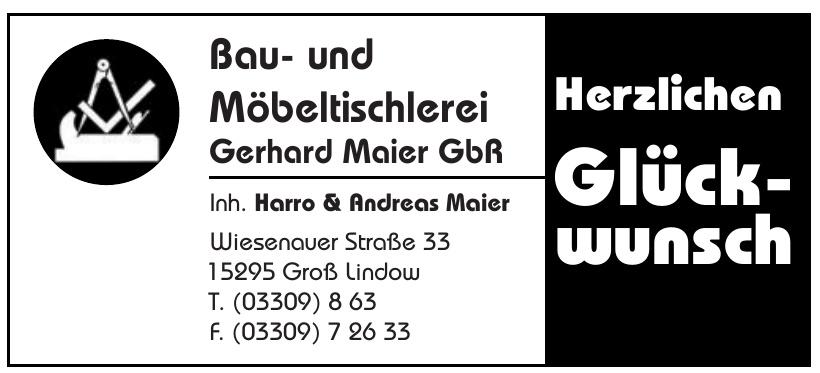 Bau- und Möbeltischlerei Gerhard Maier GbR