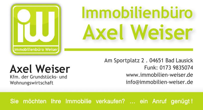 Immobilienbüro Axel Weiser