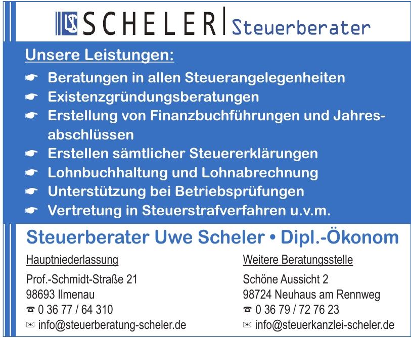 Steuerberater Uwe Scheler