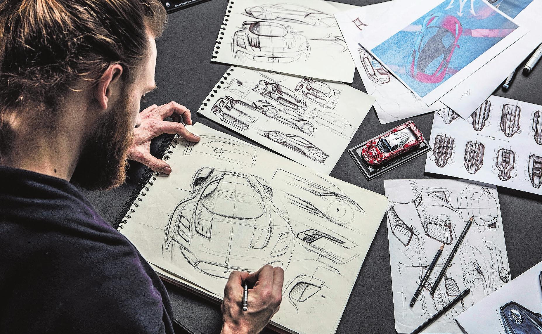 Die Maserati-Designer arbeiten mit Hochdruck an den Modellen für morgen. Bilder: Maserati