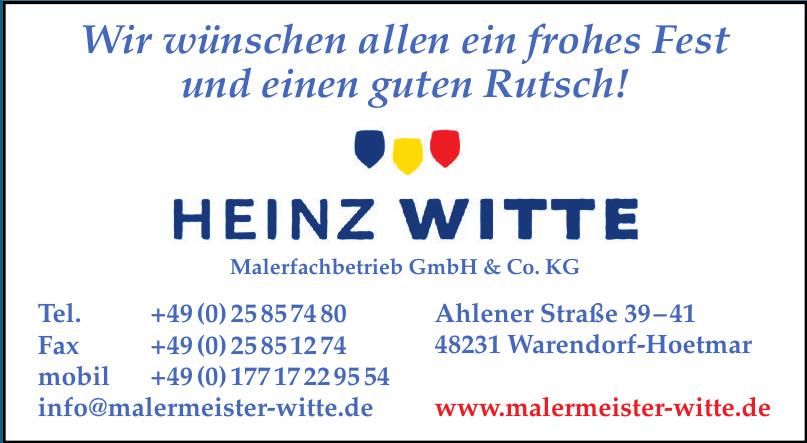 Heinz Witte Malerfachbetrieb GmbH & Co. KG