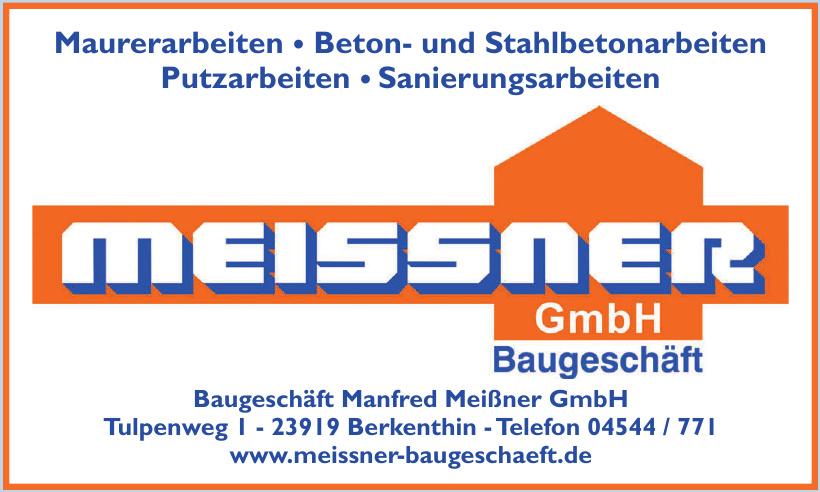 Baugeschäft Manfred Meißner GmbH