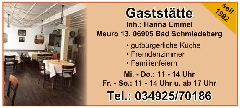 Gaststätte Inh.: Hanna Emmel