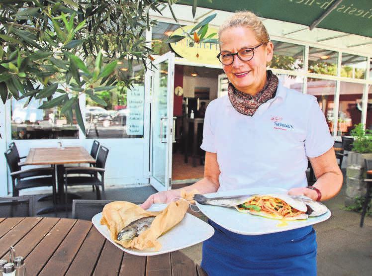Katrin Frisch bietet jetzt marinierte Forellen für Ofen und Pfanne. Im Frisch-Haus gibt es die Fische fix und fertig zubereitet zum Genießen.