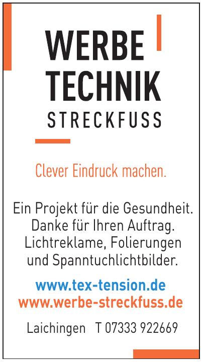 Werbe Technik Streckfuss