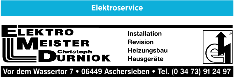 Elektro Meister Christoph Durniok