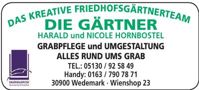 Die Gärtner Harald und Nicole Hornbostel