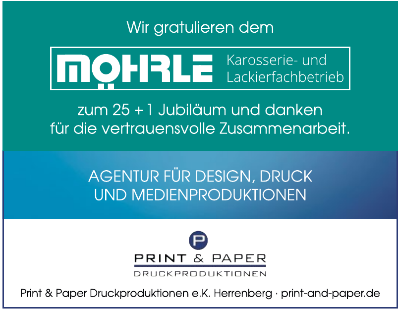 Print & Paper Druckproduktionen e.K. Herrenberg