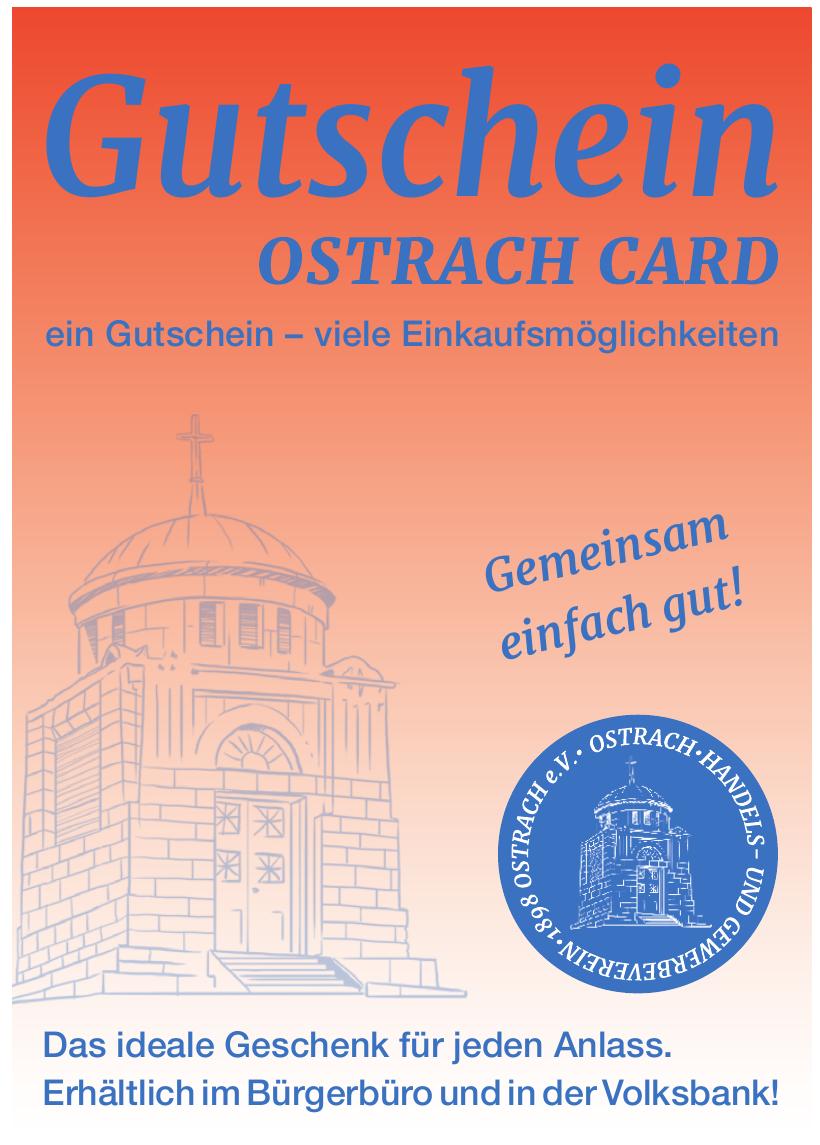 Gutschein Ostrach Card