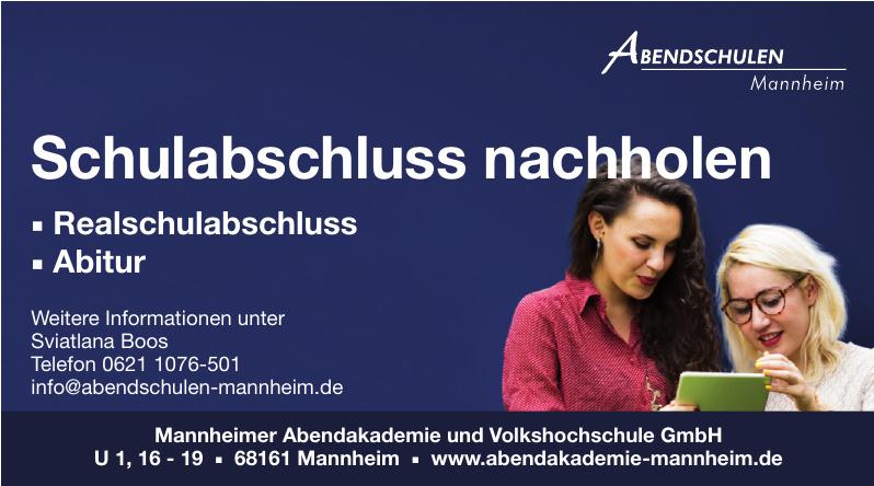 Mannheimer Abendakademie und Volkshochschule GmbH