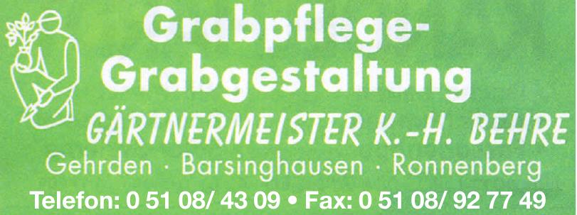 Gärtnermeister K.-H. Behre