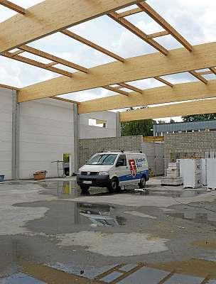 Die Firma Flenker Bau setzt auf Tradition und Innovation. FOTO: HFR