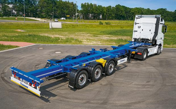 LWT Containertrucking handles a large number of local orders: the container chassis really comes into its own here.