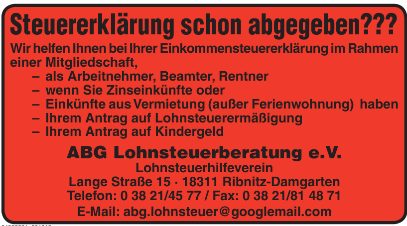 ABG Lohnsteuerberatung e. V.