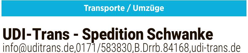 UDI-Trans - Spedition Schwanke