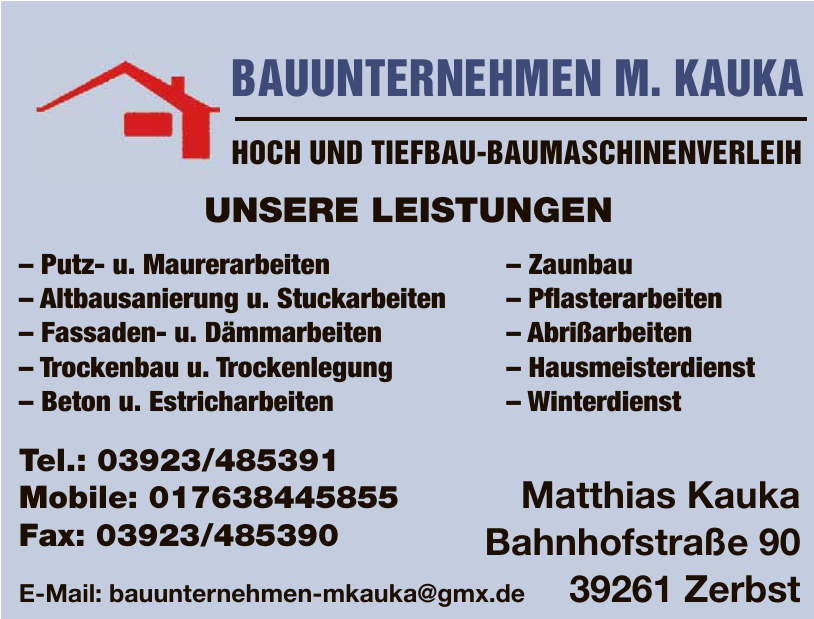 Bauunternehmen M. Kauka