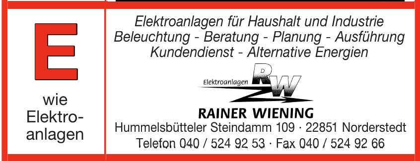 Elektroanlaage Rainer Wiening