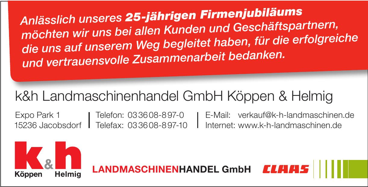 k&h Landmaschinenhandel GmbH Köppen & Helmig