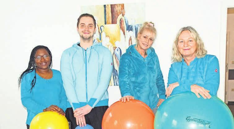 Zum qualifizierten Team der Physiotherapiepraxis gehören Juliana Fundo (von links), René Schröpfer, Ramona Wessling und Frauke Wehrenberg.